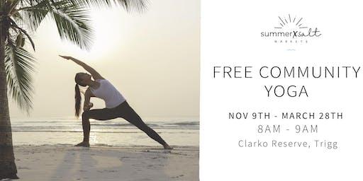 Free Community Yoga Class by the beach