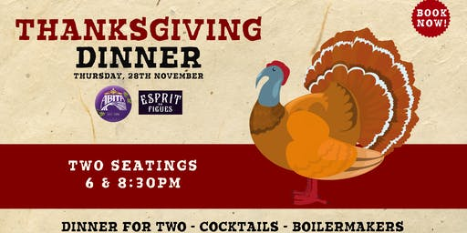 Thanksgiving Dinner! Two seatings available!