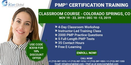 PMP® Classroom Certification Training Course in Colorado Springs, CO | 4-Day PMP BootCamp  tickets
