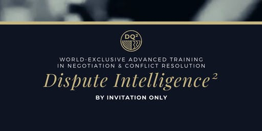 Negotiation & Conflict Special Intelligence Training (2020 Waitlist Open)