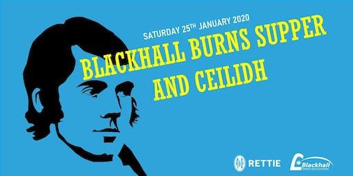 Blackhall Burns Supper and Ceilidh