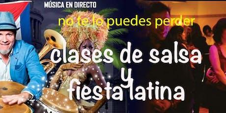 Clases de salsa y fiesta latina con musica en directo entradas