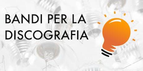 Bandi per la discografia Panel Milano Music Week 2019 biglietti