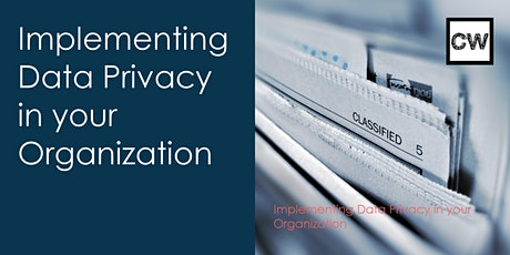 Implementing Data Privacy in your Organization tickets