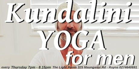 Kundalini Yoga For Men, Every Thursday 7pm to 8pm - Health, Vigor and Vitality! tickets