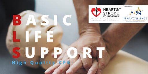 Basic Life Support Renewal-Heart & Stroke Foundation Course Barrie