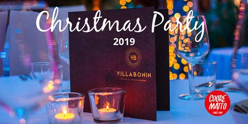 Christmas Party 2019 - Villa Bonin Cuore Matto - 29 novembre