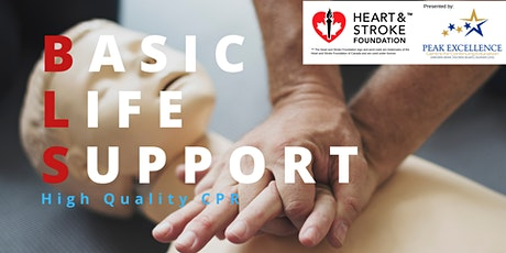 Basic Life Support CPR Blended -Heart & Stroke Foundation Course Kingston tickets