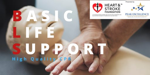 Basic Life Support CPR -Heart & Stroke Foundation Course Kingston