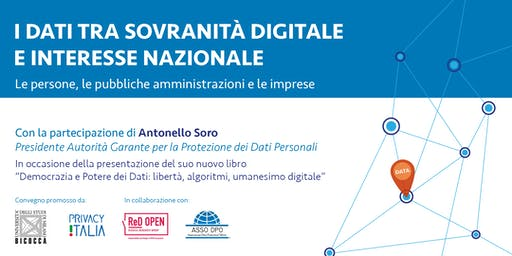 I dati tra sovranità digitale e interesse nazionale.