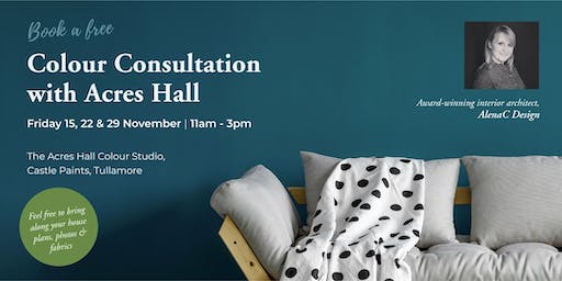 Acres Hall Free Colour Consultations