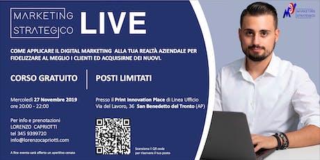Marketing Strategico LIVE - San Benedetto Del Tronto biglietti