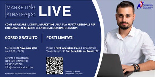 Marketing Strategico LIVE - San Benedetto Del Tronto