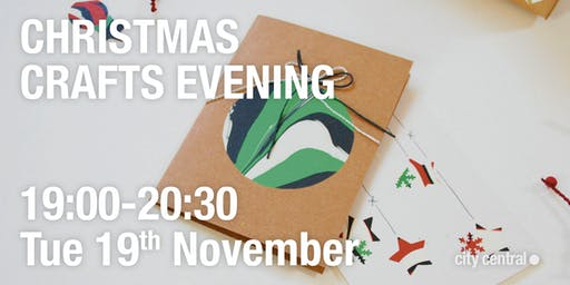 Christmas crafts evening