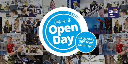 Open Day at Oldham College - 30th November, 10am - 1pm