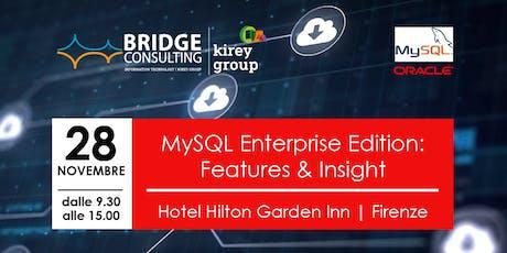 MySQL Enterprise Edition: Features & insight biglietti