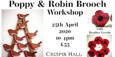 Poppy & Robin brooch workshop with Heather Everitt