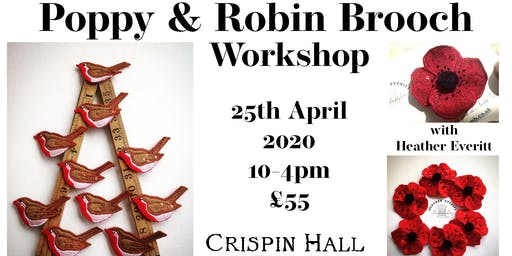 Poppy & Robin brooch workshop with Heather Everitt