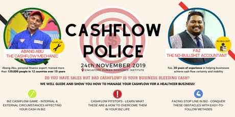 CASHFLOW POLICE - MANAGE YOUR CASHFLOW FOR A HEALTHIER BUSINESS tickets