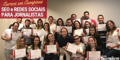 """Cursos """"SEO e Redes sociais para jornalistas"""" em Campinas"""