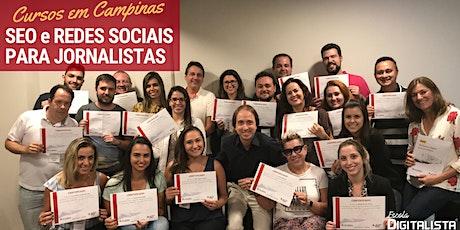 """Cursos """"SEO e Redes sociais para jornalistas"""" em Campinas ingressos"""