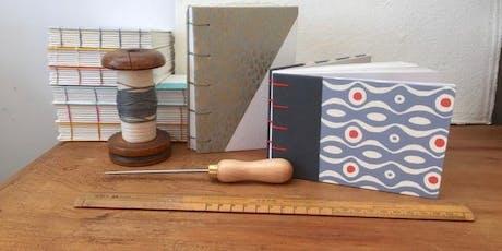 Handmade Bookbinding Notebook tickets