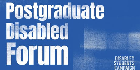 Postgraduate Disabled Students' Forum tickets