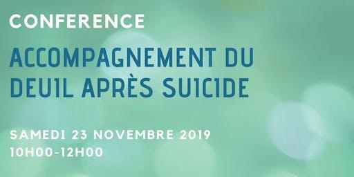 Accompagnement du deuil après suicide