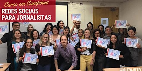 """Curso """"Redes sociais para jornalistas"""" em Campinas - Turma 5 ingressos"""