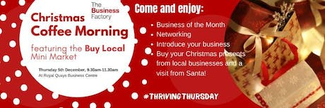 Business of the Month Coffee Morning – Thursday 5th December at 9.30am tickets