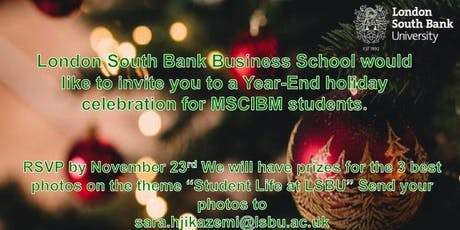 M.Sc. International Business Management Christmas gathering tickets