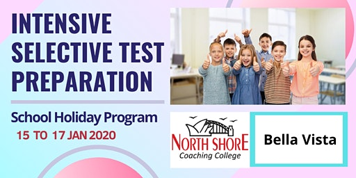 Selective Test Intensive Preparation - Holiday Program