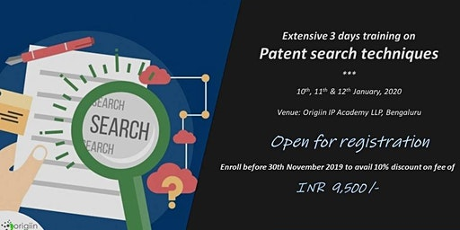 Training in Patent search techniques