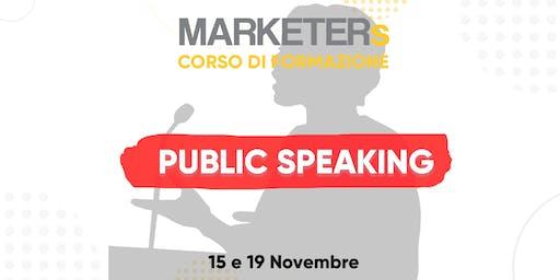 Corso di formazione: Public Speaking