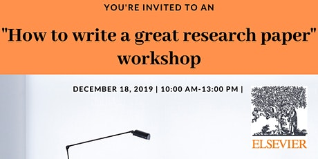 How to write a GREAT research paper tickets