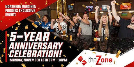 NOVA Foodies Exclusive Event: The Zone's 5th Anniversary Celebration tickets