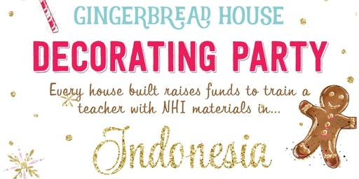 Gingerbread House Fundraiser: New Hope International Indonesia