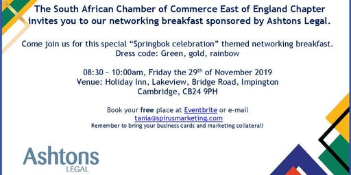 South African Chamber of Commerce - East of England Chapter November '19 CAMBRIDGE