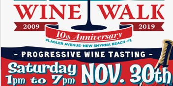 Flagler Avenue  Wine Walk - November 2019