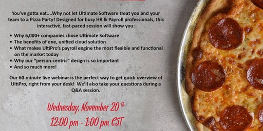 UltiPro Demo - Pizza Party!