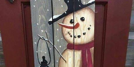 Snowman Porch Sign Workshop tickets