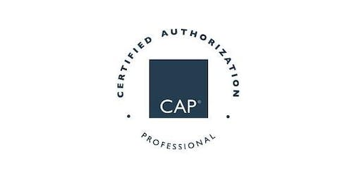 Carson City, NV| Certified Authorization Professional (CAP) Training, Includes Exam