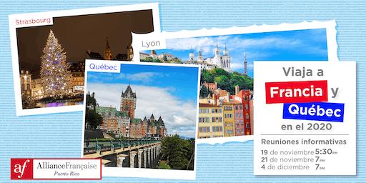 Viaja a Francia y Québec en el 2020 - Reuniones informativas en la AFPR