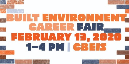 2020 Built Environment Career Fair (Employer Registration)