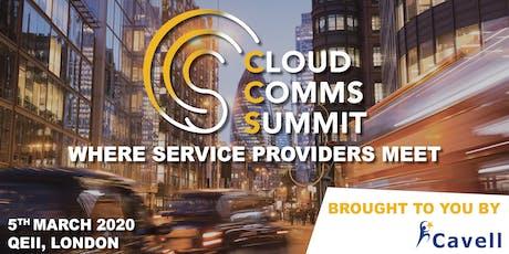 Cloud Comms Summit London 2020 tickets