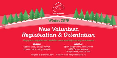 FidoNiagara New Volunteer Registration and Orientation - Session 1 tickets
