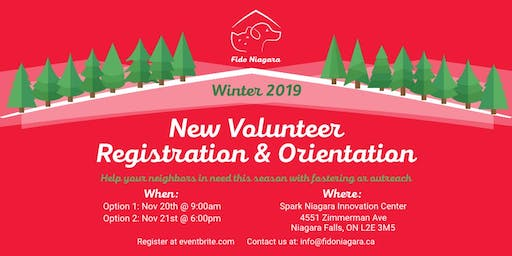 FidoNiagara New Volunteer Registration and Orientation - Session 2