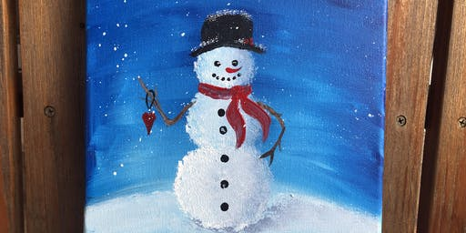 SNOWMAN after school painting, session 1
