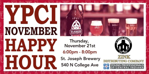 YPCI: November Happy Hour, St. Josephs Brewery, pres. by Zink Distributing