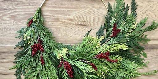 Holiday Hoop Wreath Workshop!